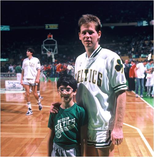 Chuck Freedman and Danny Ainge in 1987