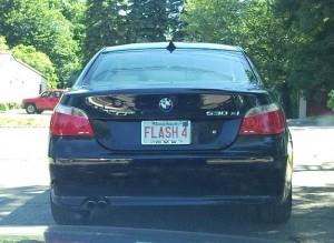 Flash 4 License Plate