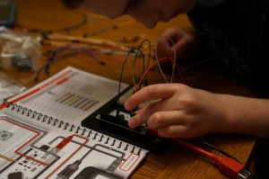 My son found it easy adding wires and components to the IOIO-OTG and included mini-breadboard.