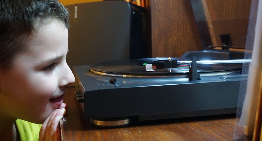 My younger son has inherited our love for listening to music. He's started a modest vinyl collection and listens via line-in on ourPlay:5.